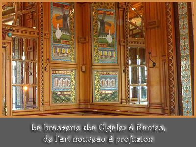 """brasserie """"La Cigale"""" de Nantes"""