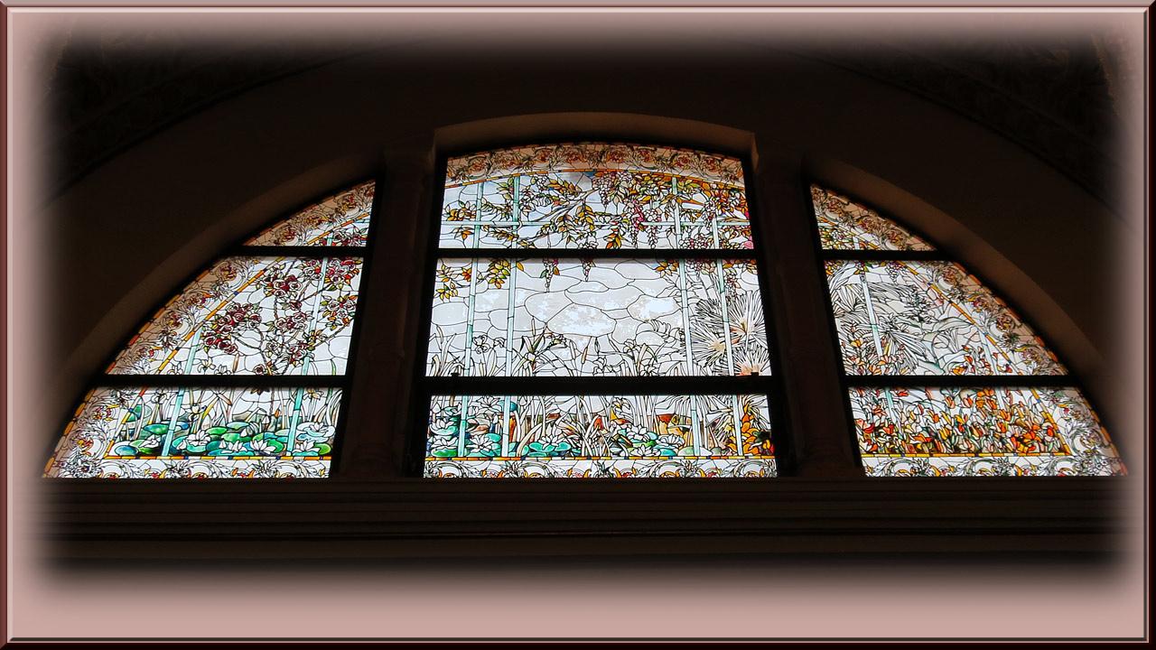 Aix Les Bains, casino Grand Cercle, vitrail