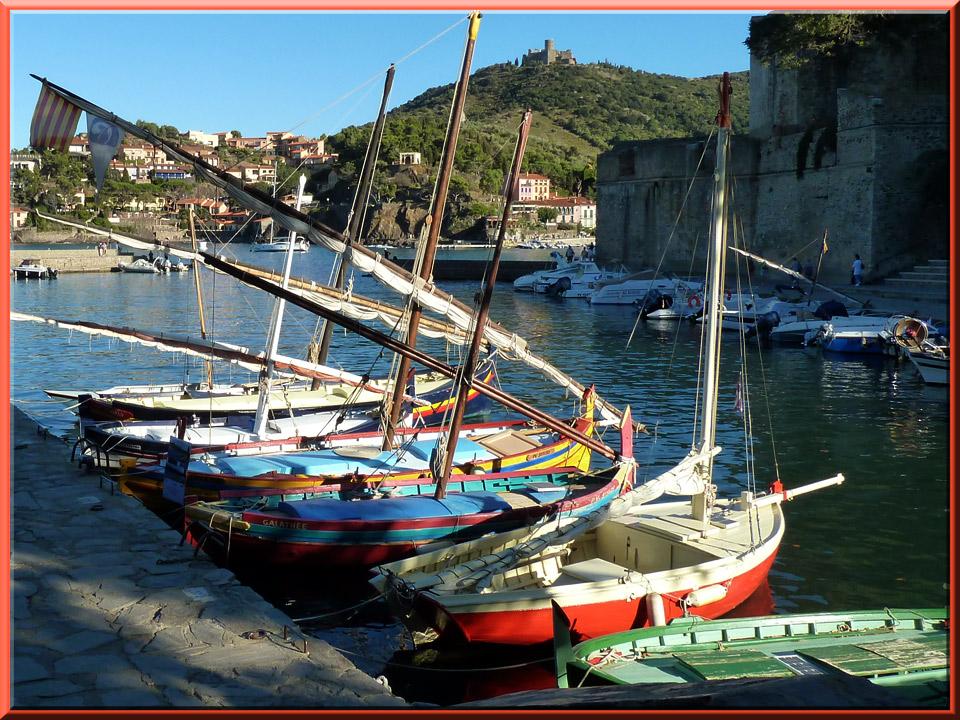 Collioure, barques catalanes