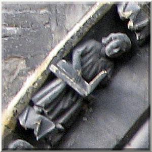 Colmar, collégiale St-Martin, statue du créateur du portail sud