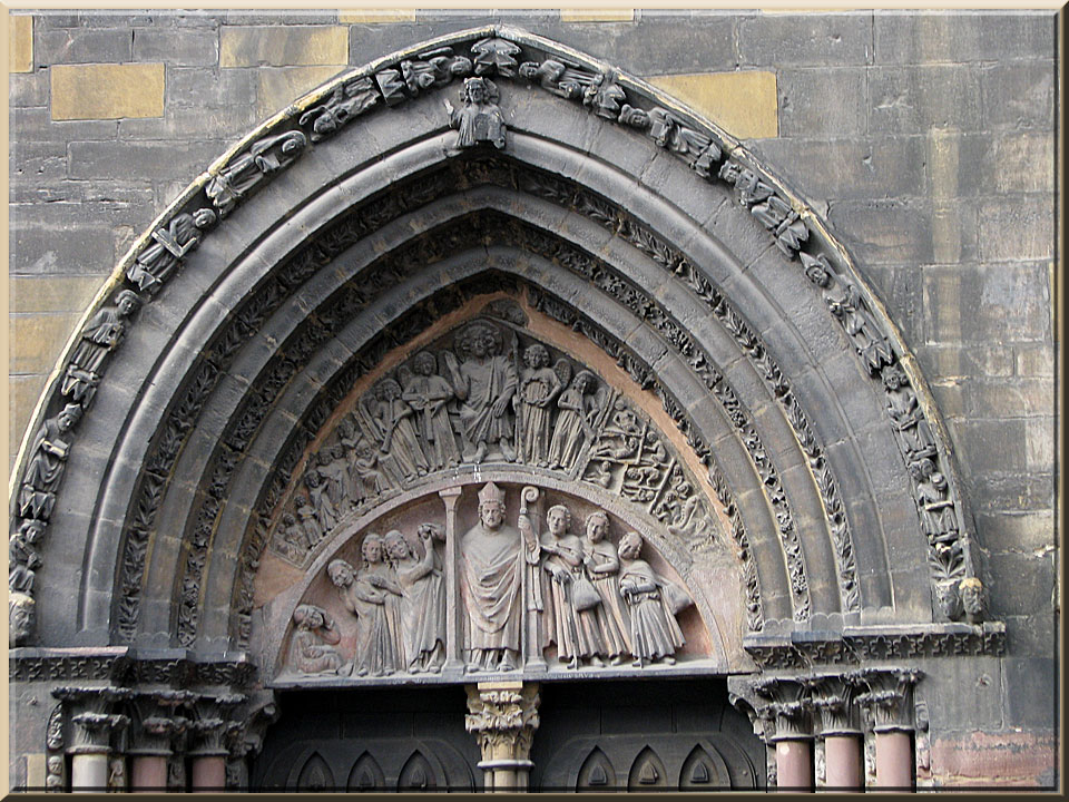 Colmar, collégiale St-Martin, tympan du portail sud