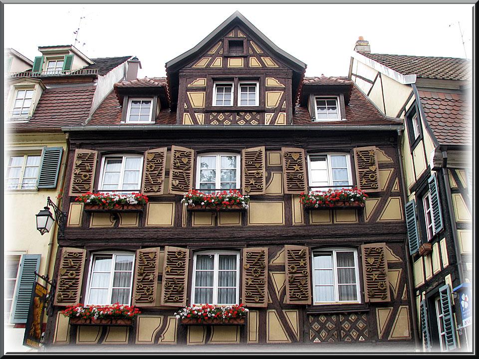 Colmar, maison à colombages