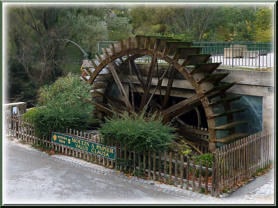 Fontaine de Vaucluse, moulin à papier