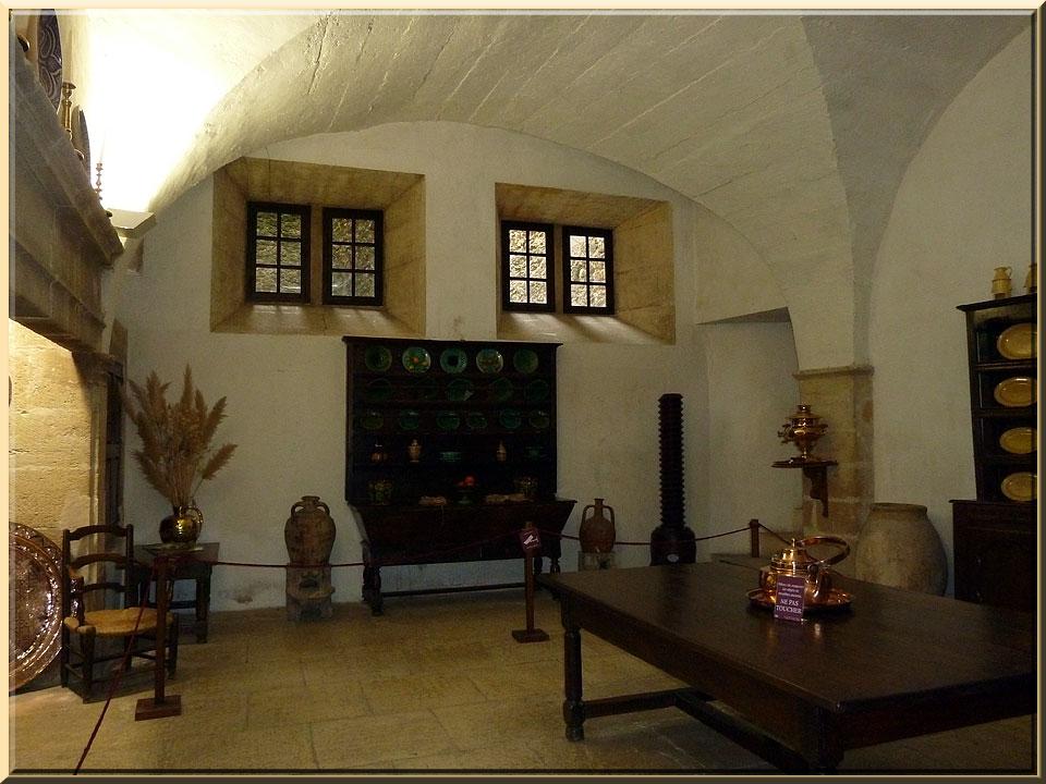 Lourmarin, cuisine du château