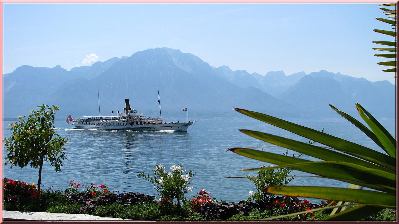 """Montreux, bateau """"La Suisse"""""""