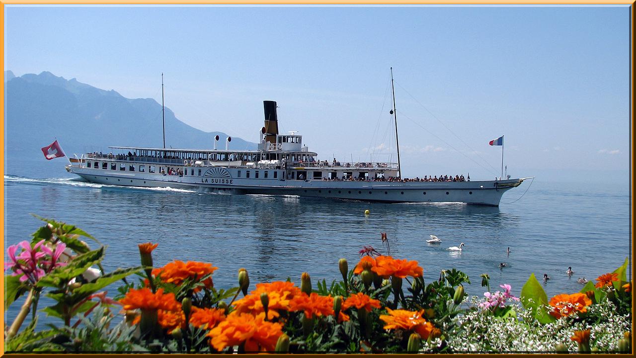 """Montreux, bateau """"La Suiss"""""""