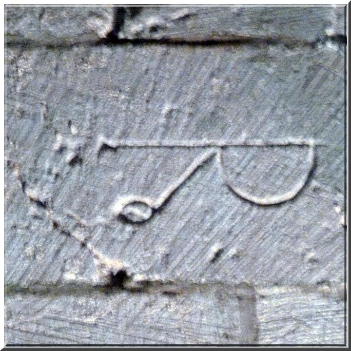 Abbaye de Sénanque, marque de tâcheron
