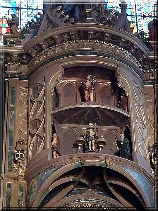 Strasbourg, cathédrale Notre-Dame, horloge astronomique