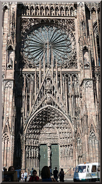 Strasbourg, cathédrale Notre-Dame, portail central et rosace