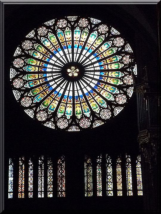 Strasbourg, cathédrale Notre-Dame, rosace