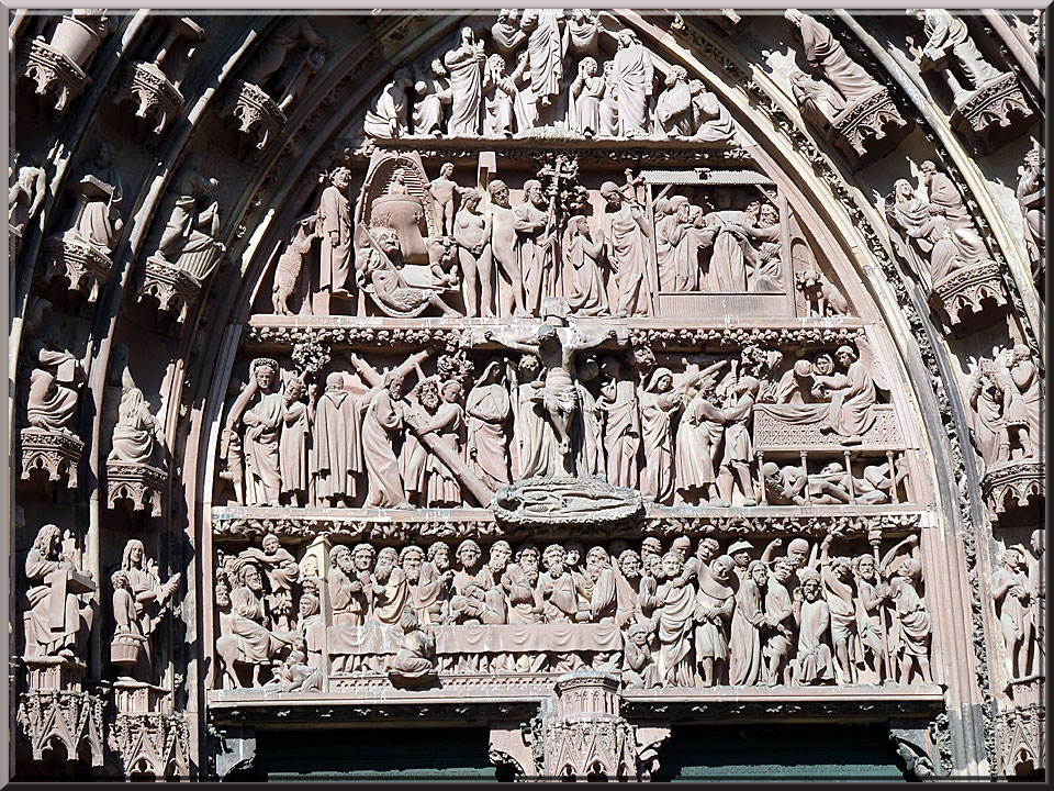 Strasbourg, cathédrale Notre-Dame, tympan du portail central