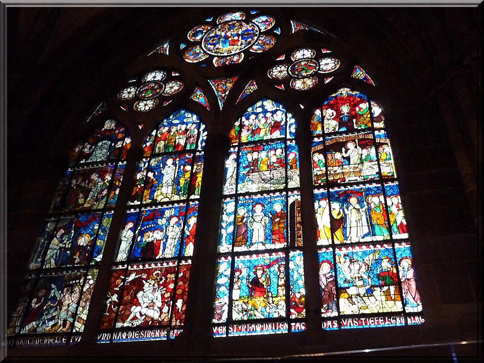 Strasbourg, cathédrale Notre-Dame, vitrail