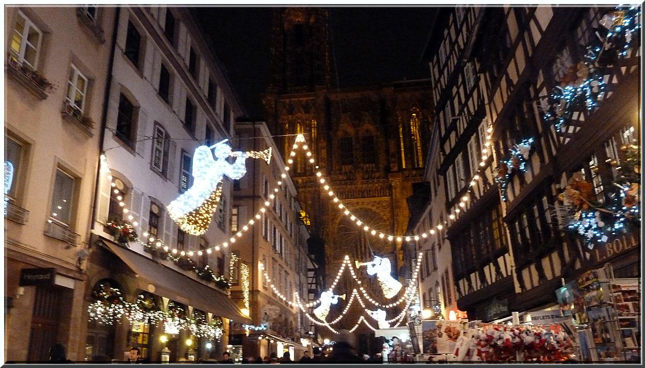 Strasbourg, rue Mercière et cathédrale
