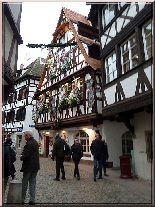 Strasbourg, Petite France, auberge du Lohkäs
