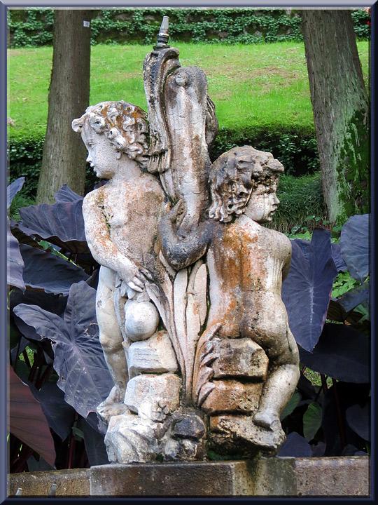 jardins de la villa Taranto à Verbania-Pallanza, fontaine des Putti
