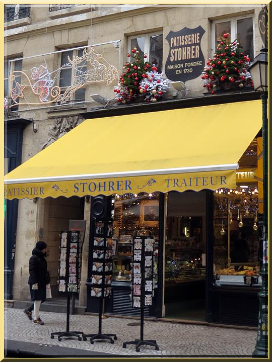 rue Montorgueil à Paris, pâtisserie Stohrer