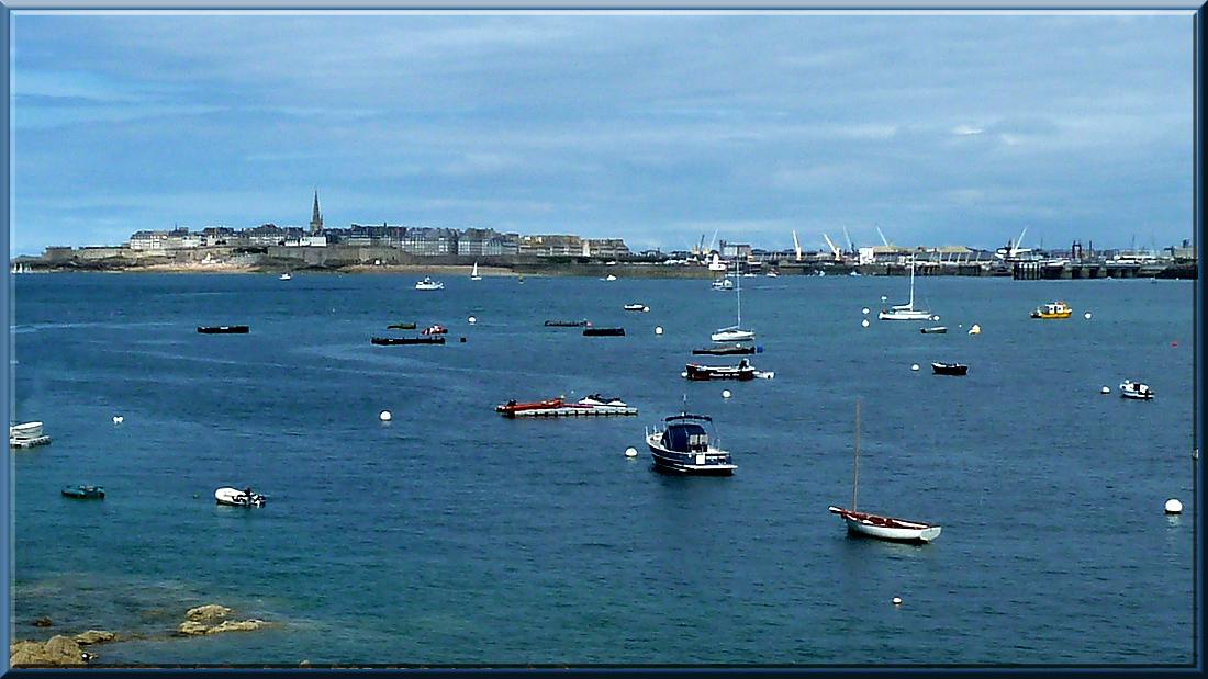 Saint-Malo vu de Dinard