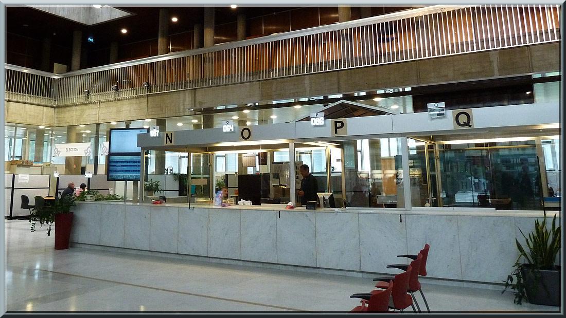 Grenoble, Hôtel de ville, hall public