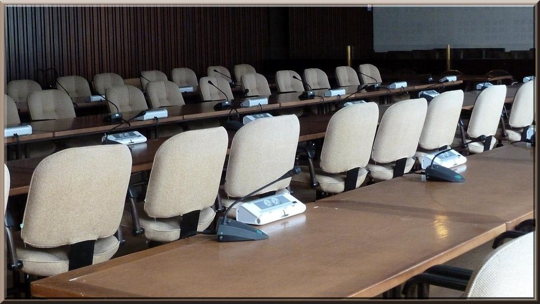 Grenoble, Hôtel de ville, salle du conseil municipal