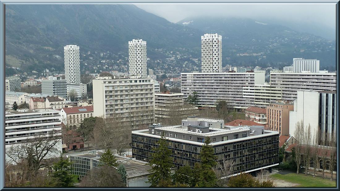 Grenoble, tours de l'Île Verte et Rectorat