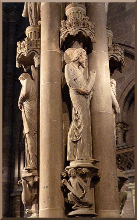 Strasbourg, cathédrale Notre-Dame, pilier des anges