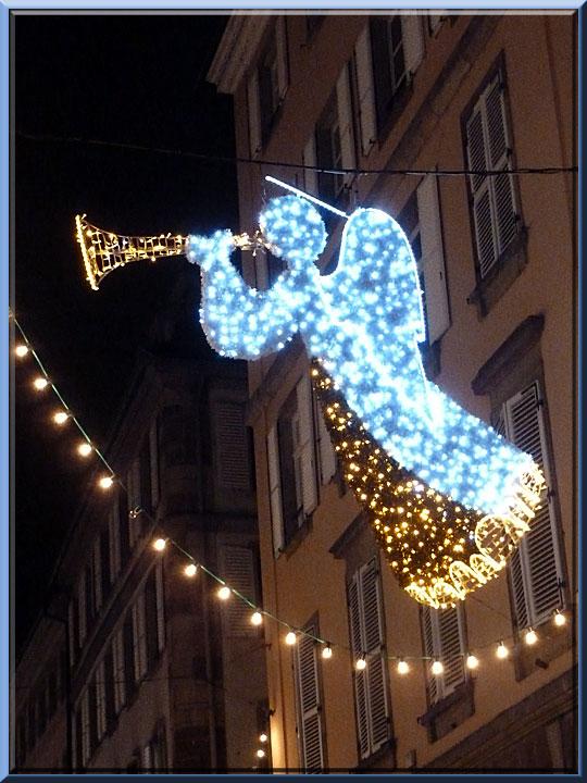 Strasbourg, Noël, rue Mercière, détail