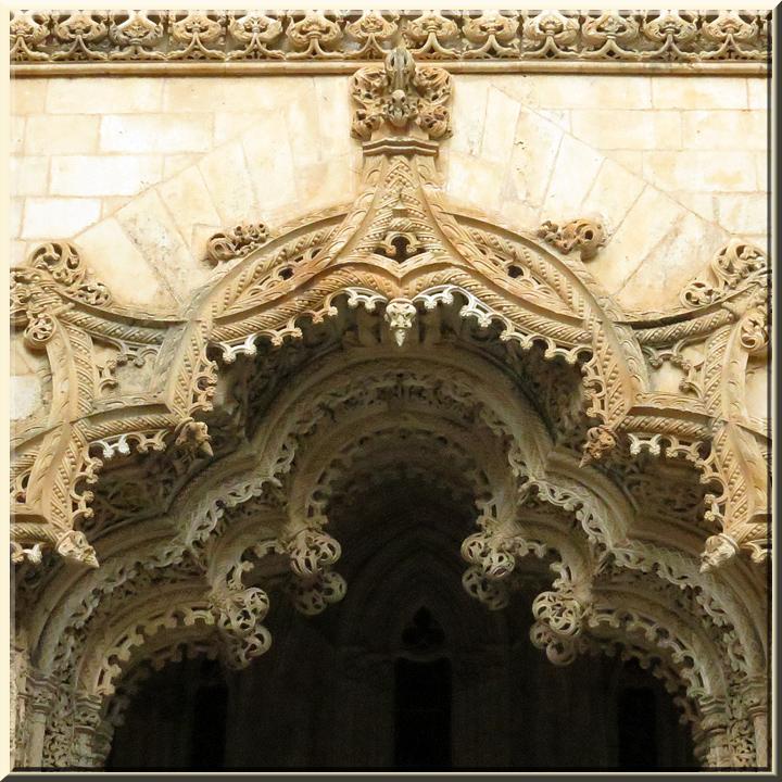 Batalha, chapelles inachevées, portique d'entrée