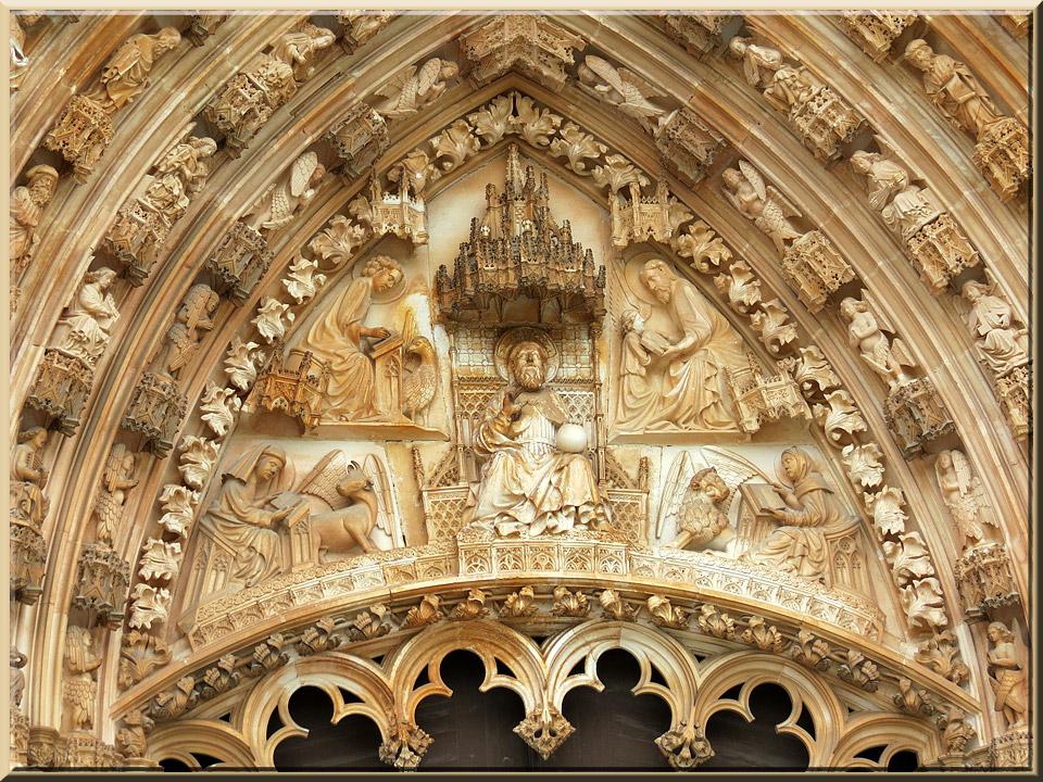 Batalha, détail du portail de la façade principale