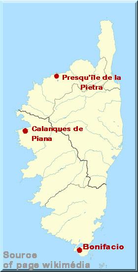 Corse, carte