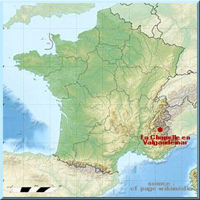 La Chapelle en Valgaudémar, carte