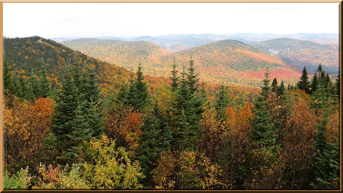 Tremblant, vue du sommet du Mont Tremblant