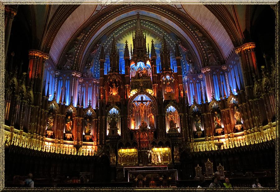 Basilique Notre-Dame-de Montréal, choeur et retable