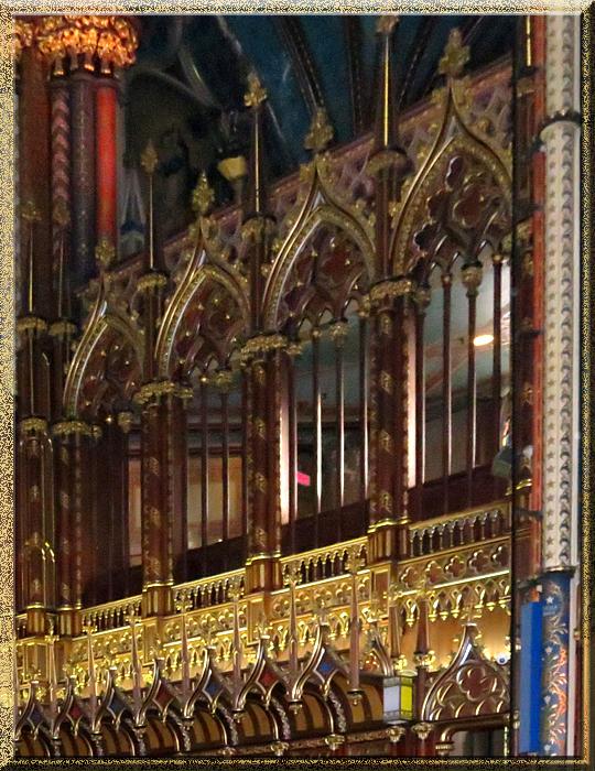basilique Notre-Dame de Montréal, décoration polychromique