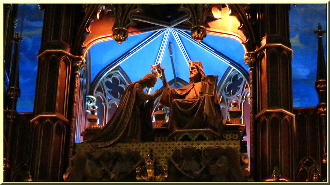 Basilique Notre-Dame de Montréal, retable, couronnement de Marie