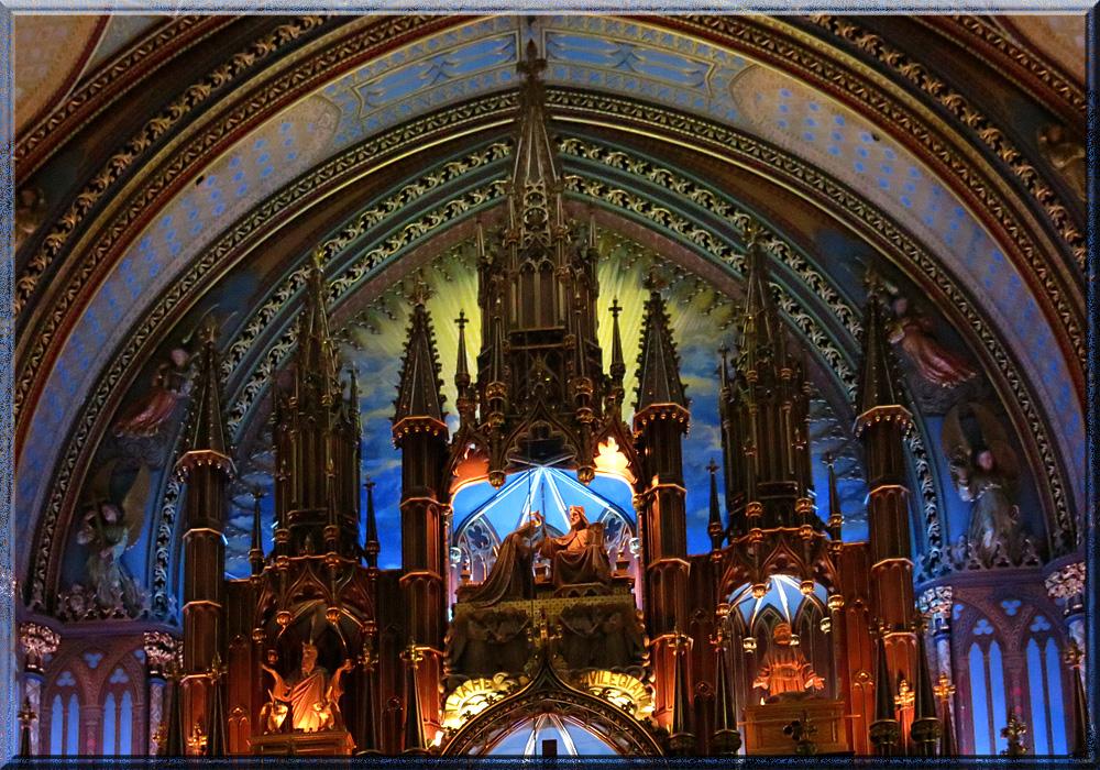 Basilique Notre-Dame de Montréal, partie supérieure du retable