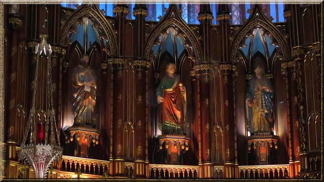 Basilique Notre-Dame de Montréal, statues des apôtres