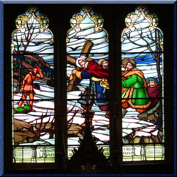 Basilique Notre-Dame de Montréal, vitrail