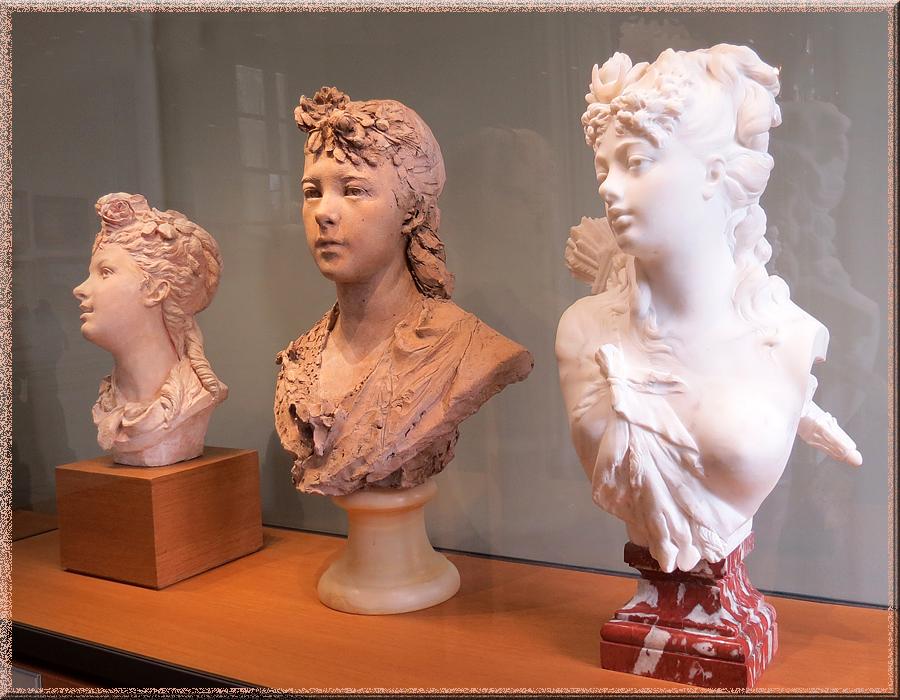 Rodin, bustes de jeunes filles
