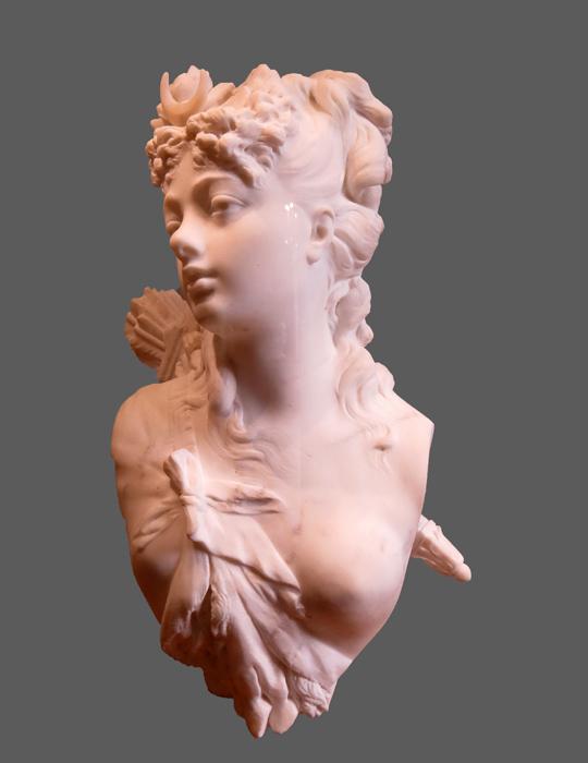 "Rodin, buste de ""Diane"""