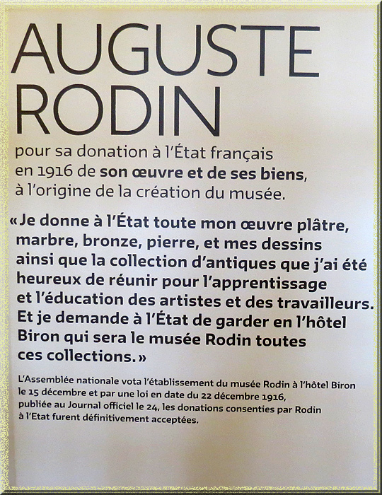 Rodin, acte de donation