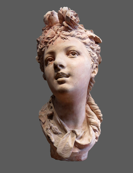 Rodin, jeune fille aux deux roses