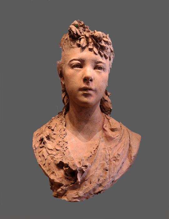 Rodin, jeune fille aux fleurs dans les cheveux