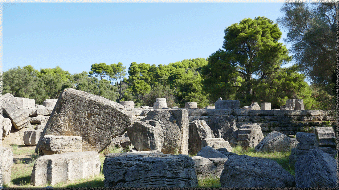 Olympie, ruines du temple de Zeus