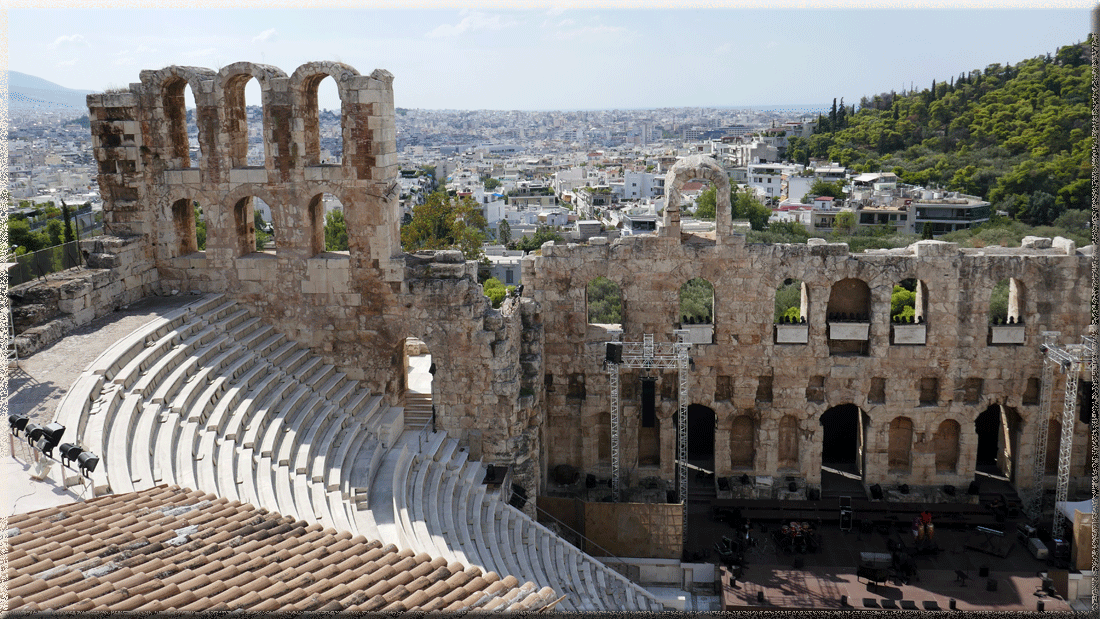 Athènes, Acropole, Odéon d'Hérode Atticus