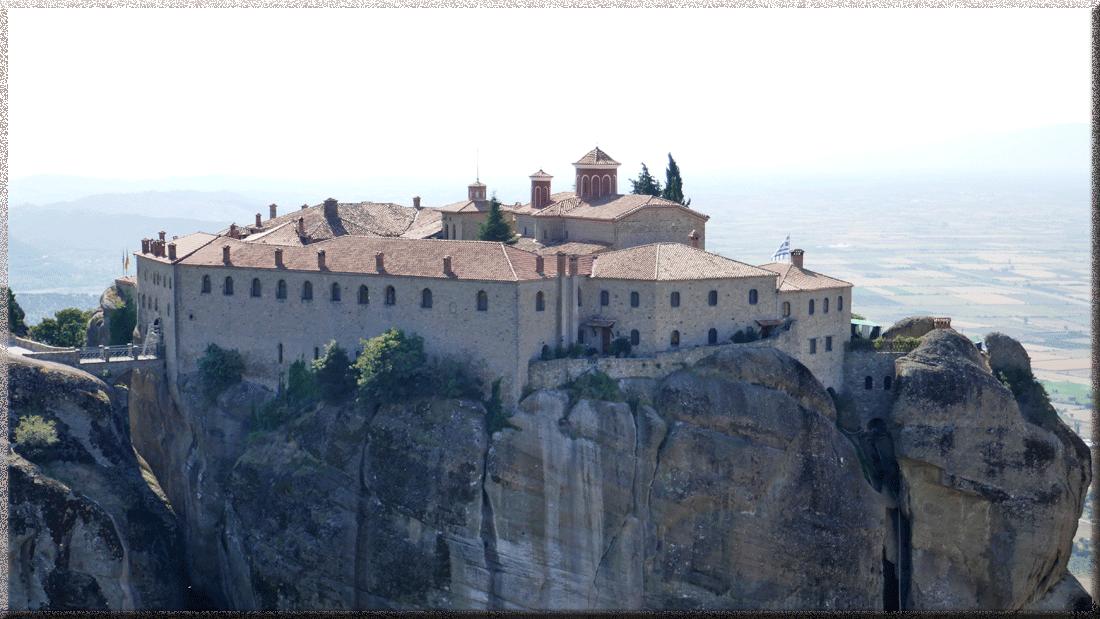 Roussanou, monastère dans les Météores en Grèce