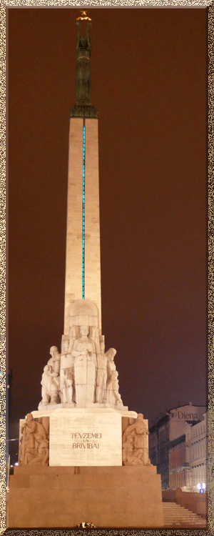 Riga, monument de la Liberté