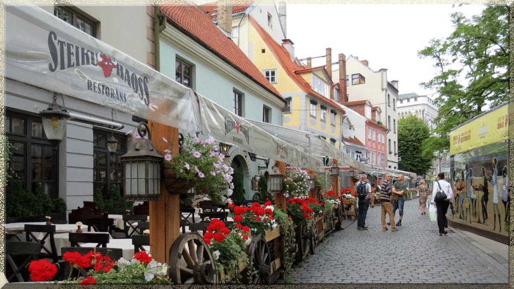 Riga, rue fleurie