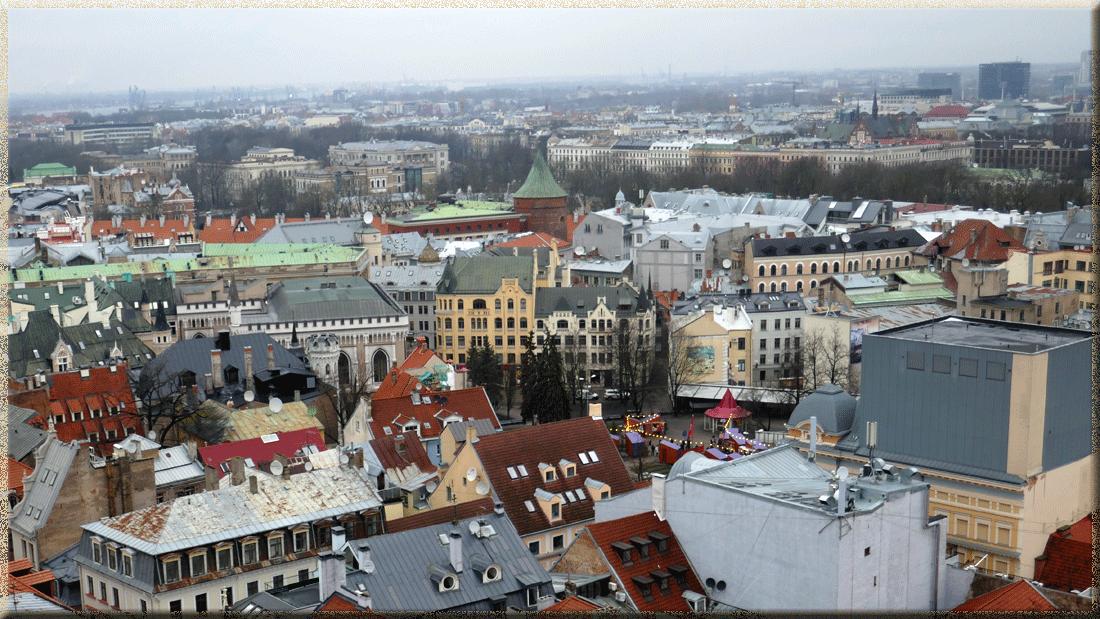 Riga, Petite Guilde, Maison des Chats, Tour Poudirière