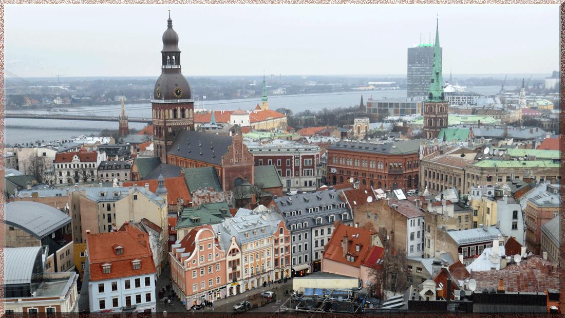 Riga, vue à partir du clocher de l'église St-Pierre