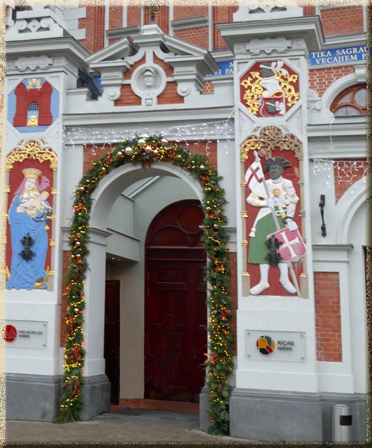 Riga, Maison des Rêtes Noires, portail d'entrée